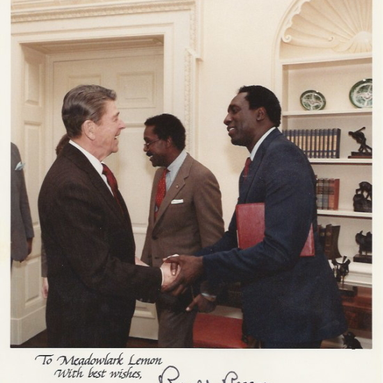 Meadowlark w President Ronald Reagan