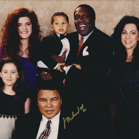 Meadowlark Lemon Family with Muhammad Ali (m@in)